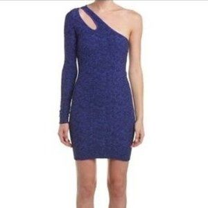 BCBG Bodycon Periblue One Shoulder Mini Dress NWT